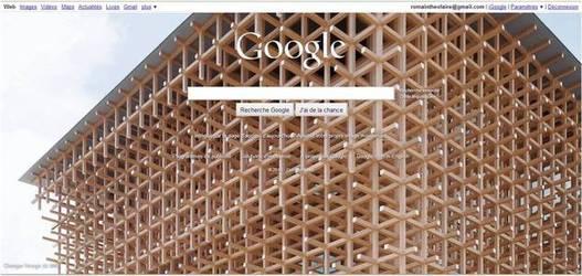 Google propose de personnaliser le fond