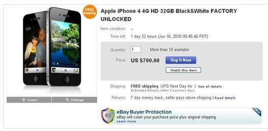 L'iPhone 4 est déjà en vente ... sur eBay