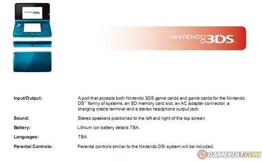 E3 2010 - Nintendo lance la Nintendo 3DS - La 3D sans lunettes