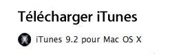 iTunes 9.2 est disponible