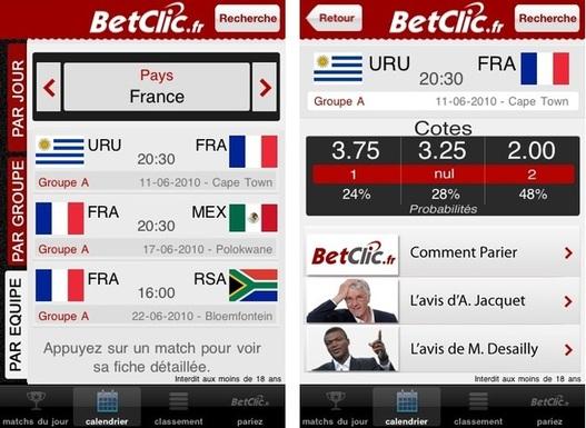 BetClic.fr lance son application iPhone