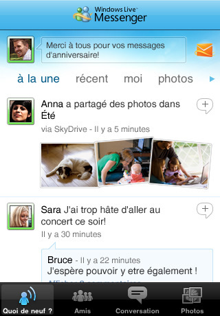 Windows Live Messenger est disponible sur iPhone