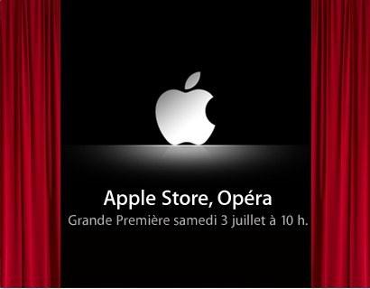Ouverture de l'Apple Store à Opéra le 3 juillet