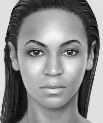 Portrait de Beyonce sur un iPad avec Finger Painting - Magnifique