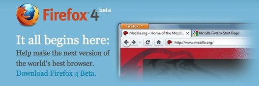 Firefox 4 beta 1 est disponible