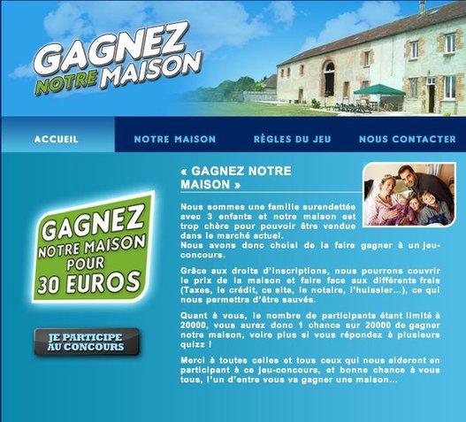 Tentez de gagner une maison pour 30€ de mise