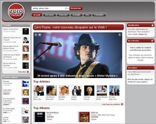 ZeroThune - Téléchargement de musique légal et gratuit sans DRM