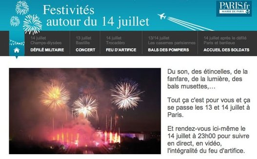 Le feu d'artifice du 14 juillet en direct live depuis le Trocadéro à Paris
