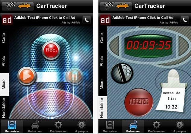 Avec CarTracker sur iPhone, retrouvez votre voiture facilement