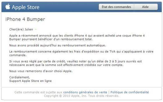 iPhone 4 - Apple débute le remboursement des Bumpers