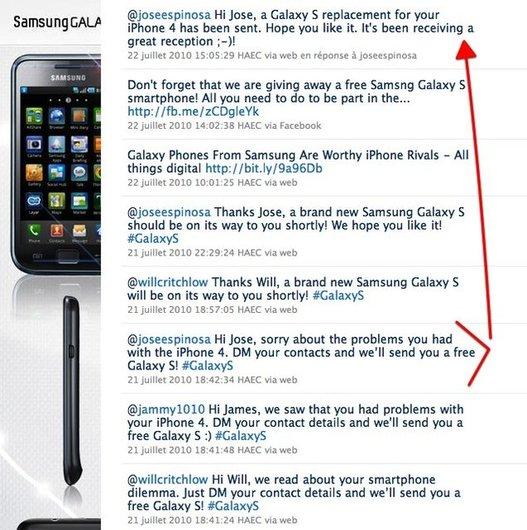 Dis Samsung, tu m'offres un Galaxy S ?