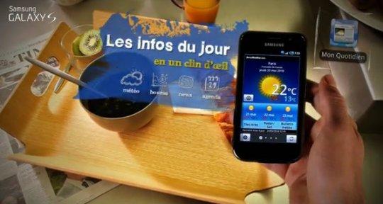 Le Samsung Galaxy S joue la star