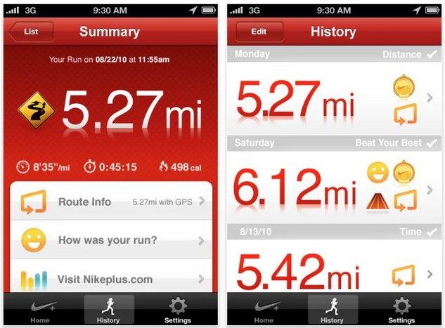 Nike+ GPS - Une application iPhone pour les coureurs