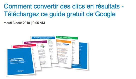 Convertir des clics en résultats - Le guide Google gratuit en français