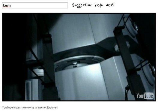 Youtube Instant - La recherche de vidéos en temps réel