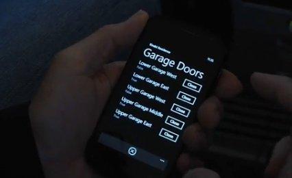 Un Samsung Cetus i917 pour piloter des portes de garages