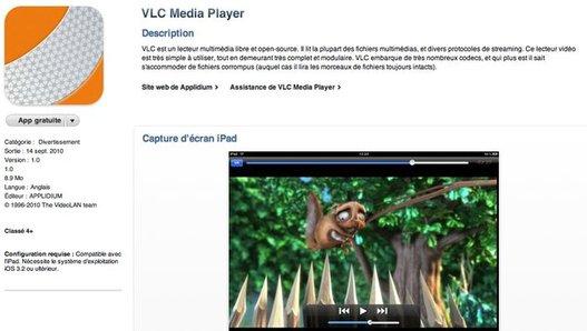 VLC Media Player pour iPad est disponible sur l'App Store