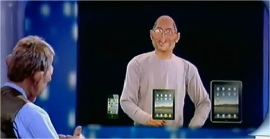 Steve Jobs présente le iFan aux Guignols