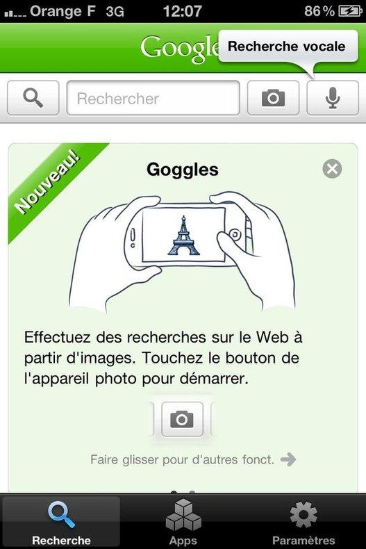 Google Goggles arrive enfin sur iPhone !