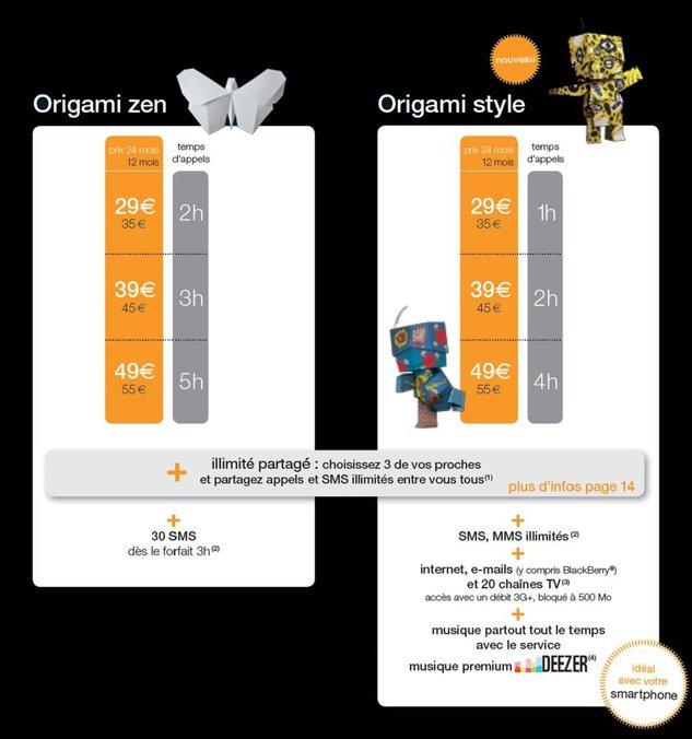 Orange dévoile ses nouveaux forfaits Origami