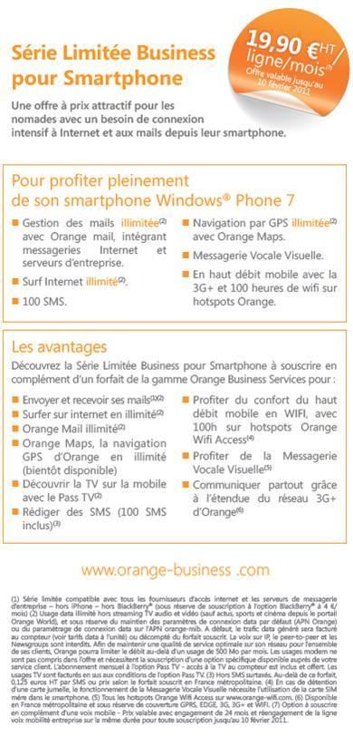 """Orange Business dévoile ses forfaits """"Série Limitée Business pour Smartphone"""""""