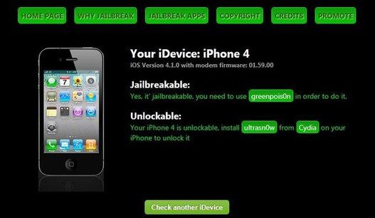 Jailbreak Wizard - Choisir une méthode de Jailbreak/Désimlock pour son appareil
