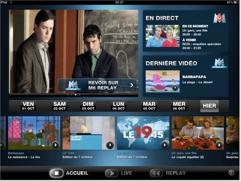 M6 et M6 Replay pour iPad - l'Application gratuite est disponible