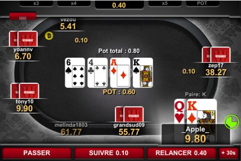 Poker en ligne - Winamax disponible sur iPhone