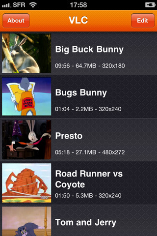 VLC pour iPhone et iPod Touch disponible