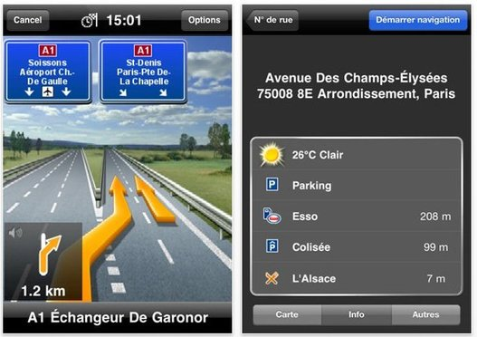 Navigon pour iPhone en promotion jusqu'au 4 novembre