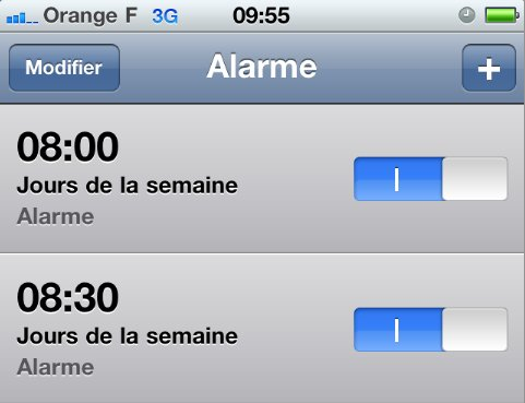 iPhone - Attention aux alarmes - Bug du changement d'heure