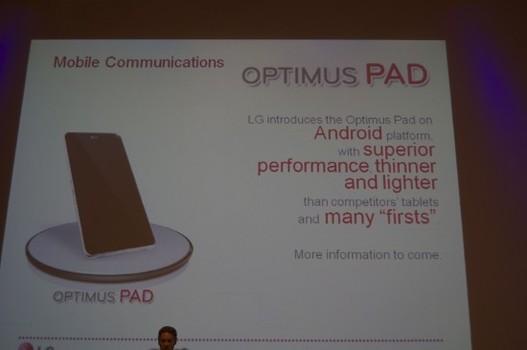 LG Optimus Pad - C'est pour 2011 !