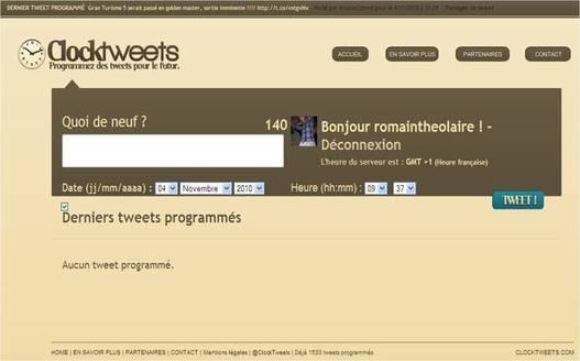 Programmez vos tweets à l'avance avec Clocktweets