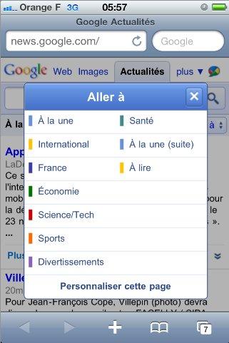 Google News pour Smartphone - Petite mise à jour