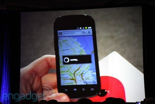 Le Nexus S dans les mains d'Eric Schmidt