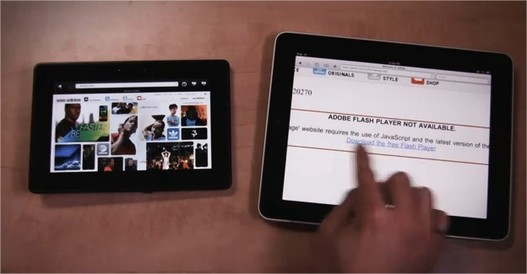 Blackberry Playbook vs iPad en vidéo