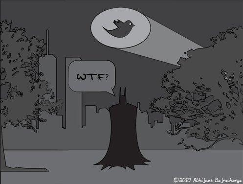 Batman et Twitter - J'adore ( humour )
