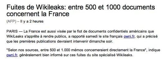 Wikileaks va t il faire trembler l'Elysée ?