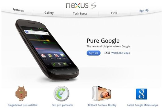Le Google Nexus S, Android 2.3 Gingerbread et le NFC sont officiels