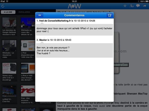 Application iPhone ( V2 ) et iPad d'AccessOWeb sur l'App Store