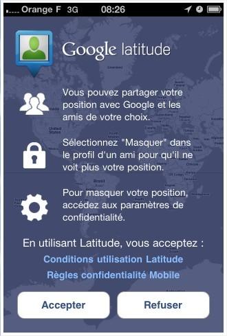 Google Lattitude pour iPhone maintenant sur l'App Store