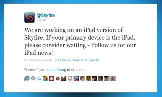 Skyfire - Bientôt une version iPad !