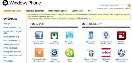 Windows Phone 7 Marketplace explose Android