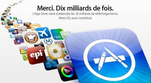 10 milliards d'applications téléchargées sur l'App Store