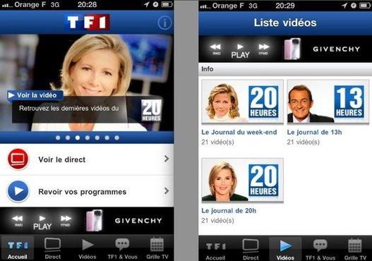 TF1 maintenant sur iPhone, iPad et iPod Touch gratuitement