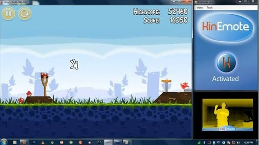 Angry Birds avec une Kinect sur un PC