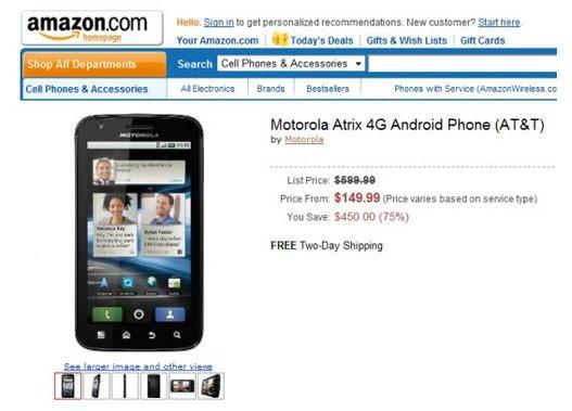 Le prix du Motorola Atrix fera t il baisser les ventes d'iPhone 5 ?