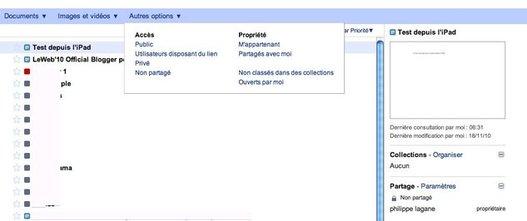 Google Documents - Changements de design