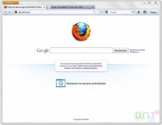 Mozilla Firefox 4 - la bêta 11 est disponible
