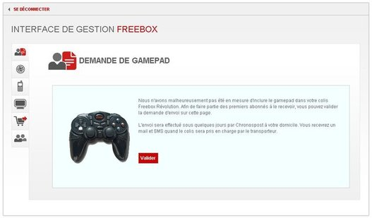 Freebox Révolution - Commandez votre manette de jeu